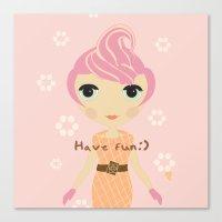 Ice-cream Girl Canvas Print