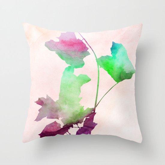 Maple2_Watercolor by Jacqueline Madonado & Garima Dhawan Throw Pillow