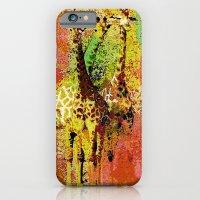 giraffe iPhone & iPod Cases featuring Giraffe  by Saundra Myles