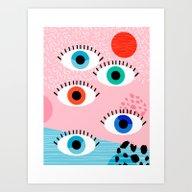 Noob - Eyes Memphis Retr… Art Print