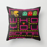 Pacman Ghostbuster Throw Pillow