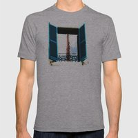 Window to the Present Mens Fitted Tee Athletic Grey SMALL