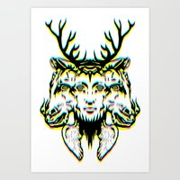 GOD II Psicho Art Print