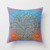 Dragon Garden 2 Throw Pillow