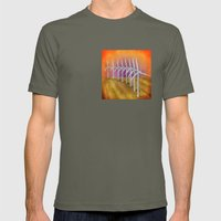 Windfarm At Sunset Mens Fitted Tee Lieutenant SMALL