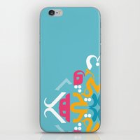 Blue Arabic iPhone & iPod Skin
