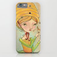 iPhone & iPod Case featuring The Only Bee in My Bonnet by Kristin Barr