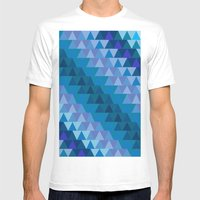 Digital Waves Mens Fitted Tee White SMALL