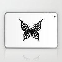Butterfly Black on White Laptop & iPad Skin