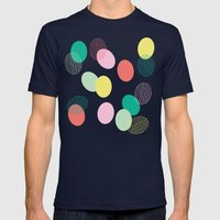 Easter Eggs Mens Fitted Tee Navy SMALL