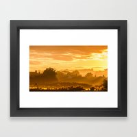 Golden Haze Framed Art Print