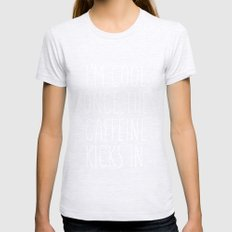 I'm cool once the caffeine kicks in Womens Fitted Tee Ash Grey SMALL