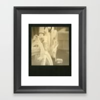 Ghost Of Cyclist Past Framed Art Print
