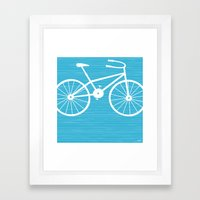 Blue Bike By Friztin Framed Art Print