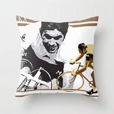 cycling legend Eddy 'The Cannibal' Merckx Throw Pillow