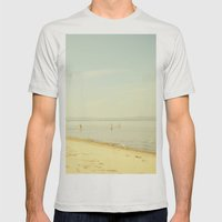 Once Upon A Summer Mens Fitted Tee Silver SMALL