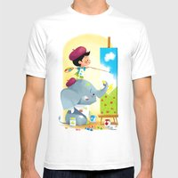 Painting Day Mens Fitted Tee White SMALL
