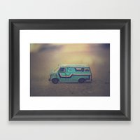 delightful van Framed Art Print