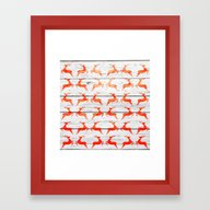 Christmas Pattern On Woo… Framed Art Print