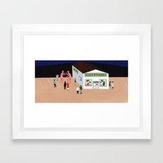 Giant Wrestle Framed Art Print