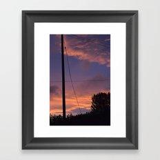Crossed Framed Art Print