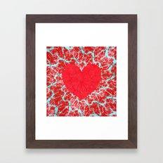 Winter heart. Valentine's day love confession Framed Art Print
