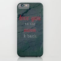 iPhone & iPod Case featuring LOVE YOU TO THE MOON & BACK by mel @ my postcard heaven