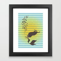 Black Mermaid Framed Art Print