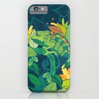 iPhone & iPod Case featuring Chameleon by Arcturus
