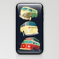 iPhone & iPod Skin featuring Kombi Trio by Buster Fidez