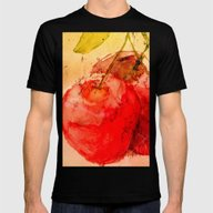 Cherries Mens Fitted Tee Black SMALL