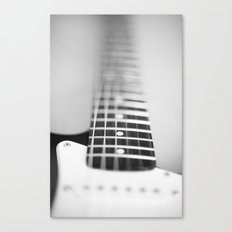 Guitar macro monochrome Canvas Print