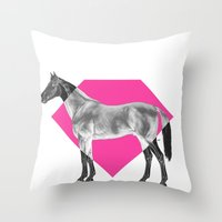 Horse Diamond Throw Pillow