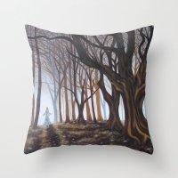 Dark Forrest Throw Pillow