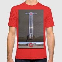 PONTIAC 6 Mens Fitted Tee Red SMALL