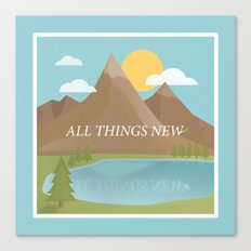 All Things New - blue (version 2) Canvas Print