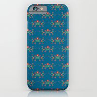Small floral kitchen collection blue iPhone 6 Slim Case