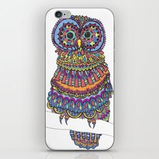Patterned Owl iPhone & iPod Skin