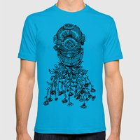 Daisy Diver Mens Fitted Tee Teal SMALL