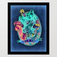 galaxy Art Prints featuring SIREN by Tim Shumate