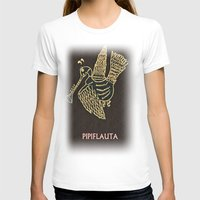 PIPIFLAUTA Womens Fitted Tee White SMALL