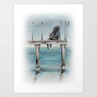 Do You Remember We Were Sitting There Art Print