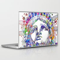 new york Laptop & iPad Skins featuring New York New York by Bekim ART