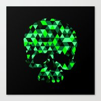 Triangle Camouflage Skull (BLACK) Canvas Print