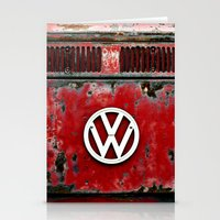 VW Retro Red Stationery Cards