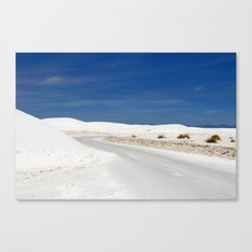 White Sand Reaches Up To The Horizon Canvas Print