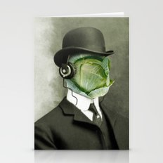 Bowler Cabbage Stationery Cards