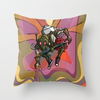 Brushmask Throw Pillow