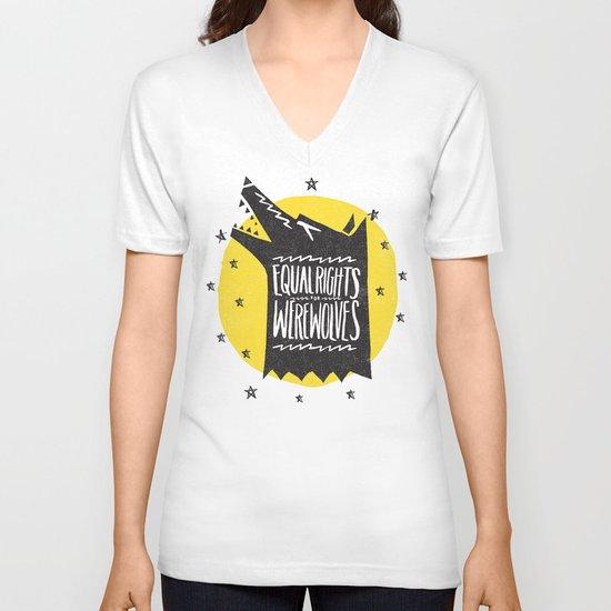 WEREWOLF RIGHTS V-neck T-shirt