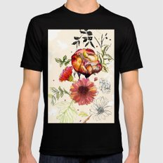 Botanical 1 Mens Fitted Tee SMALL Black